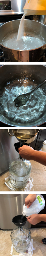 The process for making homebrew hard seltzer