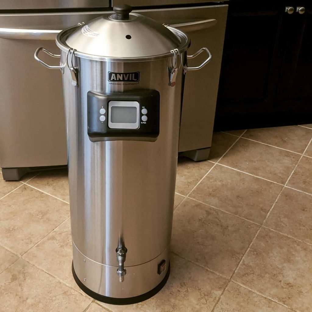 An electric brewing system showing the differences between electric vs gas homebrewing systems